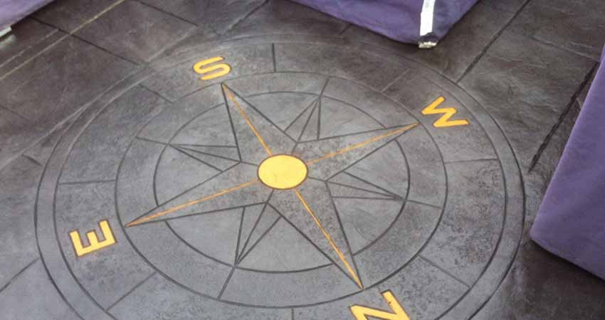 Patio with Compass