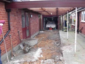 Preservation of existing car port.