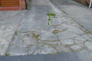 a. Front driveway before