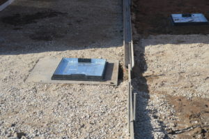 j. recessed manholes