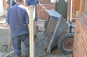 l.using a dumper in accessable areas