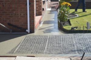 preparing the concrete for colouring